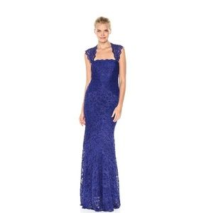 NWT- Nicole Miller Eva Lace Gown